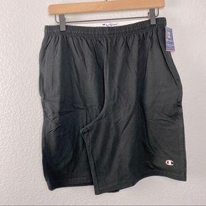 Champion Men's Jersey Short With Pockets, Black, M